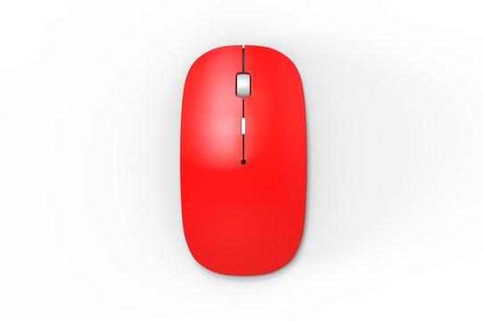 Blank promotional computer mouse for promotional branding. 3d render illustration.