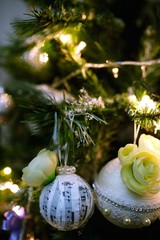 Background with Christmas decorations
