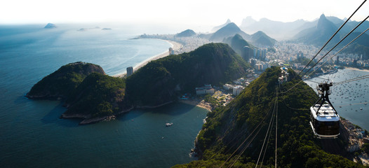 Photo sur Toile Brésil Rio de Janeiro city skyline view from Sugarloaf mountain, Brazil