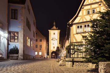 Rothenburg ob der Tauber, Bayern, Deutschland