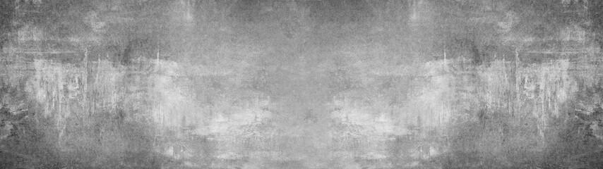 Foto auf Leinwand Steine Grey stone concrete texture background panorama banner long