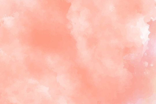 Red watercolor background. Abstract vector paint splash, backdrop. Aquarelle beautiful texture. Graphic design for your project. Subtle pastel colors.