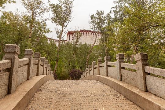Summer residence of Dalai Lama in Norbulingka park in Lhasa, Tibet