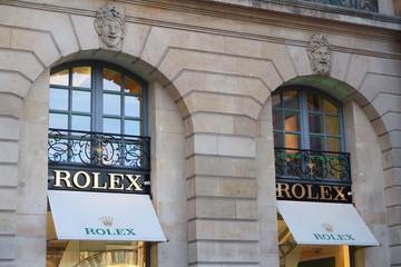 Devanture de la boutique Rolex sur la place Vendôme à Paris – 26 octobre 2019 (France)
