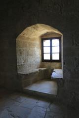 Fototapete - window of old castle