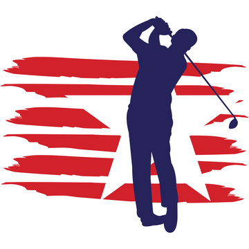 Golf flag, American Flag, Fourth of July, 4th of July, Patriotic, Cricut Silhouette Cut File, Cutting file