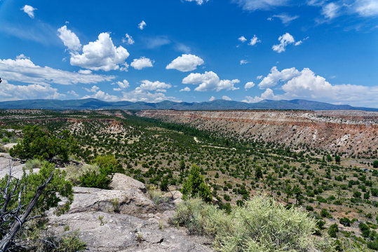 Vista from the Tsankawi Trail in Bandelier National Monument