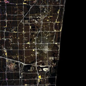 Map Fort Lauderdale city. Florida