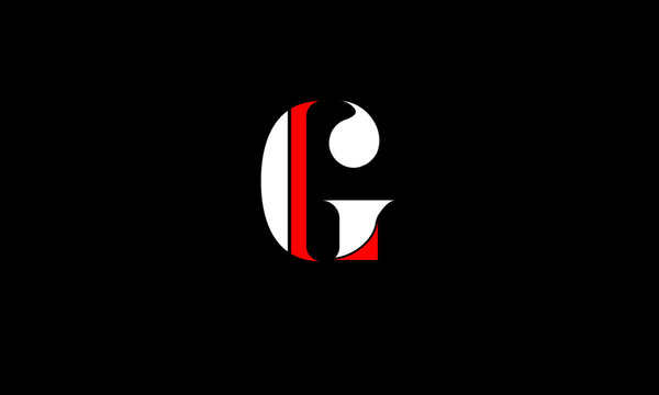 GL, LG Letter Logo Design with Creative Modern Trendy Typography