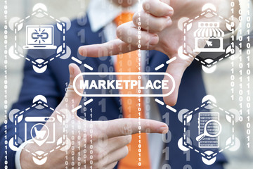 Marketplace B2B Inventory Internet Commerce Concept. Market Place.