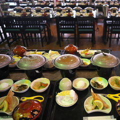 A typical dining hall for tourists in Japan