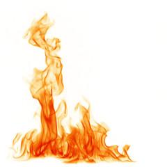 Fotorolgordijn Vuur Fire burning flames on a black background