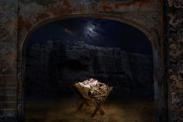 Jesus Laying on the Manger