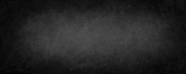 Fototapete - Black background texture of old vintage black paper or chalkboard design with grunge d