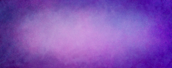 Fototapete - Purple background with vintage texture in purple pink and blue abstract paint design with grunge and color splash border