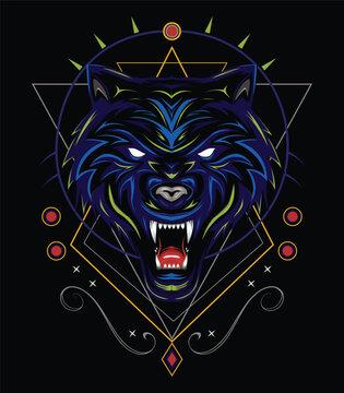 wolf vector logo design inspiration. The wolf vector logo illustration, head wolves