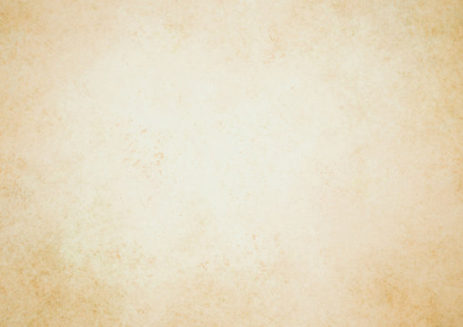 Old brown paper parchment background with distressed vintage stains and ink spatter and white faded shabby center, elegant antique beige color