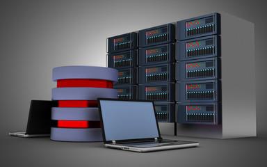 3d computer network concept . 3d illustration
