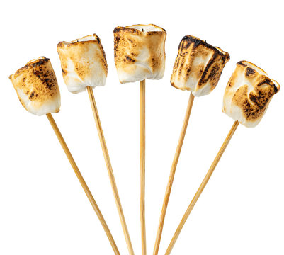 toasted marshmallows on skewers