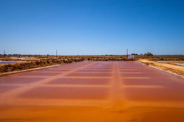 Salt pans Faro Portugal
