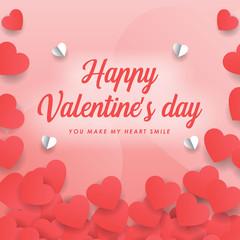 happy valentine day background wallpaper vector graphic design