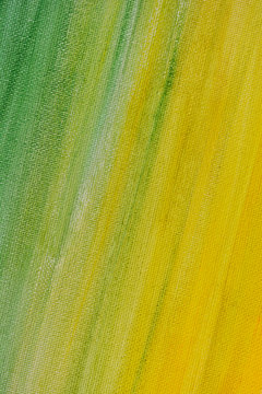 Yellow green background. Diagonal brush strokes. The texture of the holt. Oil painting.