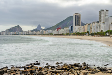 Copacabana in cloudy day
