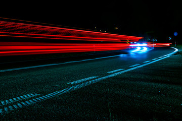 Foto op Aluminium Gymnastiek lights of cars with night