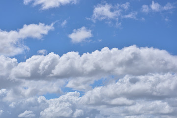 Canvas Prints 青空と雲の背景素材 暑中見舞い テンプレート