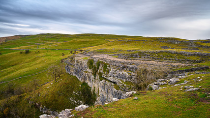Top of Malham Cove, in Malhamdale which has extensive Limestone Pavement at the top where the Pennine Way passes by