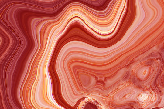 Marble ink colorful. Red marble pattern texture abstract background. can be used for background or wallpaper