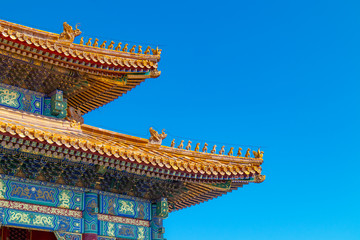 roof of chinese palace in beijing