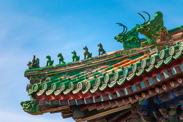 roof of chinese architecture in beijing