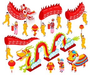 Chinese New Year Isometric Set