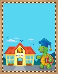 Poster Voor kinderen Turtle teacher theme parchment 2