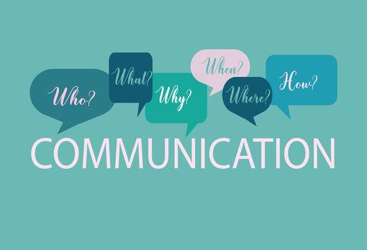 Internal Communication Questions, green background