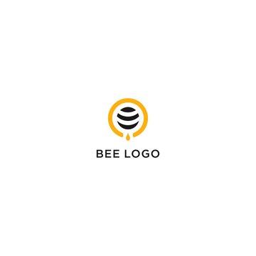 Bee Logo Vector Design, Honey Logo Template