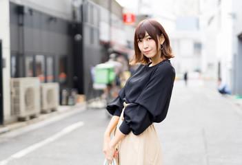 東京 渋谷の女性 Fototapete