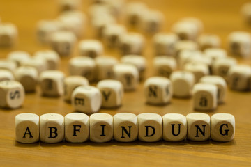 Abfindung german the word made of letters