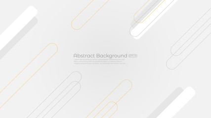 Abstract white background or texture with geometric shapes trendy modern and minimalist for cover design, wallpaper. Creative geometric simple design. EPS 10 vector.