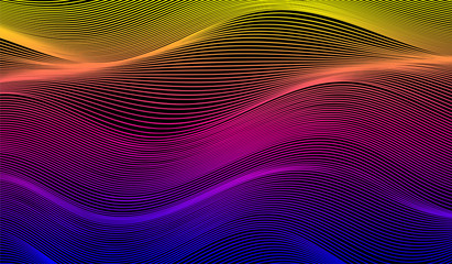 abstract colorful elegant wavy background