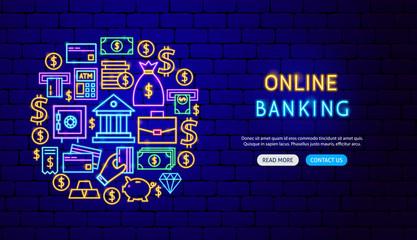 Banking Neon Banner Design