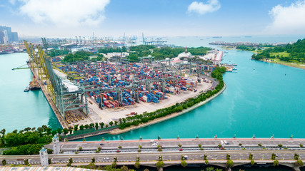 Containers at Port of Singapore