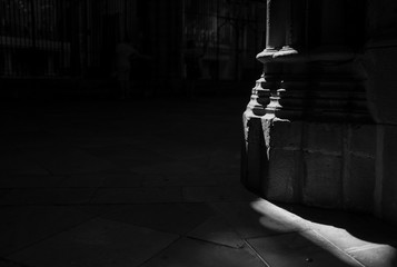 Light in the Barcelona cathedral