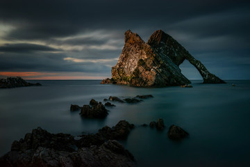 Fiddle Rock dusk