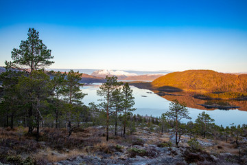 Trip to Hallaraune mountain in Velfjord, Nordland county in Northern Norway