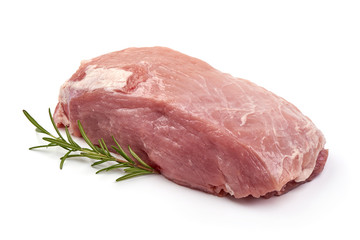 Raw pork neck, isolated on white background Wall mural