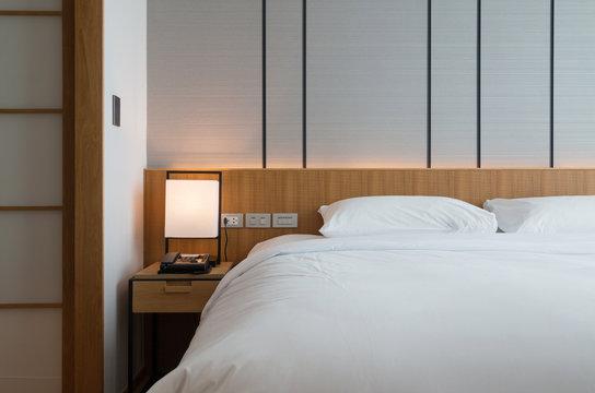 modern hotel bed room interior