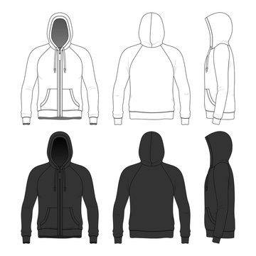 Clothing set of man hoodie.