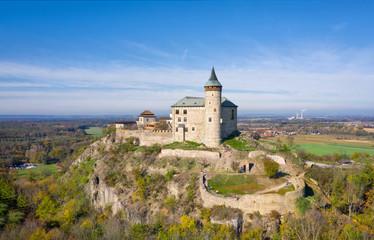 Aerial view of Kuneticka Hora castle, Pardubice Region, Czechia